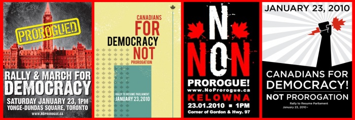 NoProrogue Rally Posters