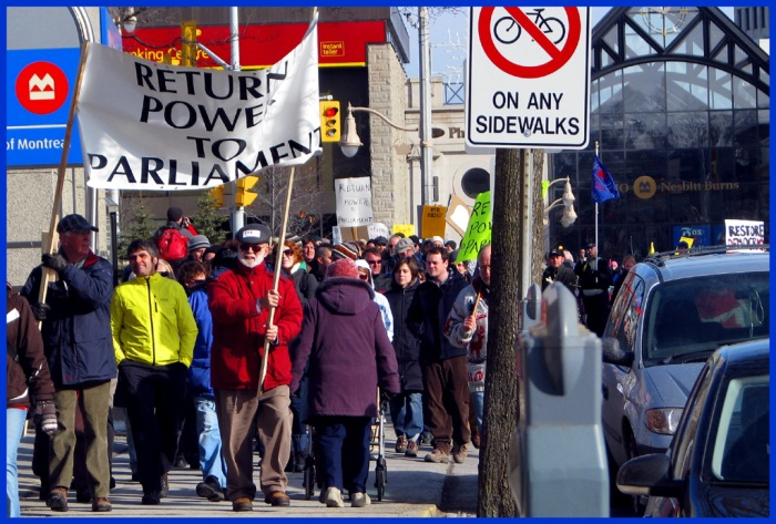 the NoProrogue rally in Guelph