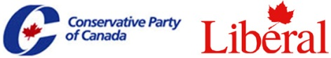 Conservative Party of Canada and Liberal logos