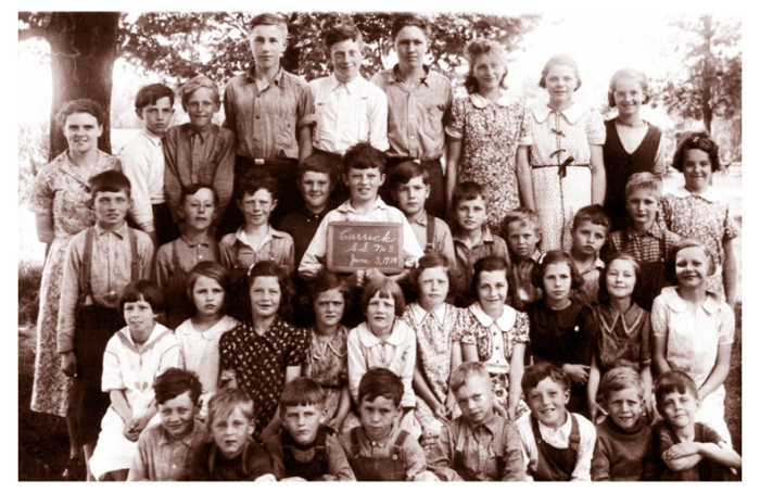 Whole School Portrait - 1930's Rural Ontario