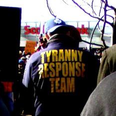 This sweatshirt reads: Tyranny Response Team