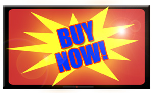 graphic TV screen which says BUY NOW