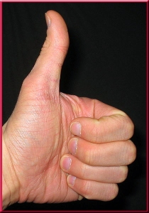 classic thumbs up hand