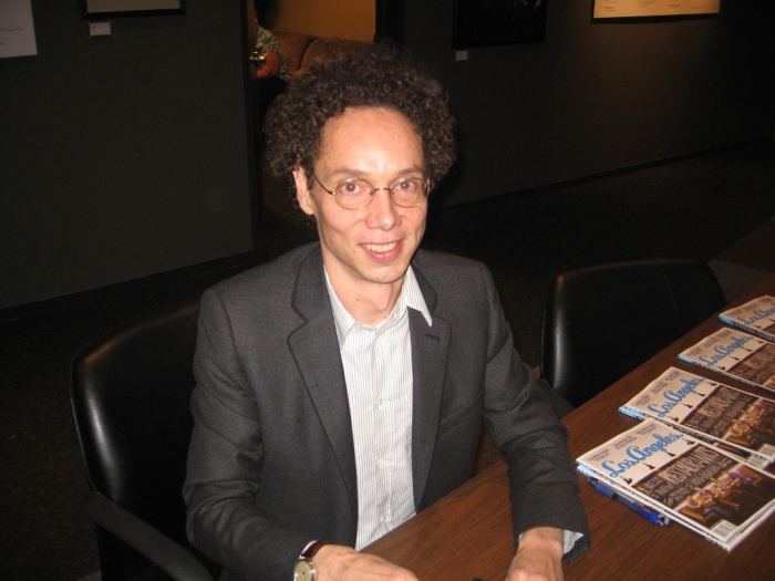 Gladwell at a table, Los Angeles, January 2009