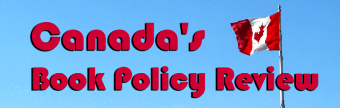 Canadoan flag overlaid with the text title: Canada's Book Policy Review