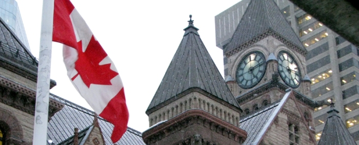 Canadian Flag, Old City Hall, Toronto