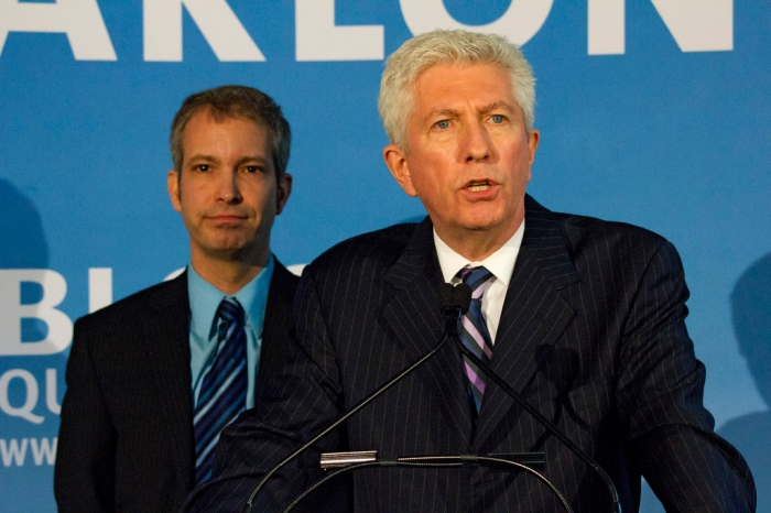Gilles Duceppe on the Campaign Trail with Berard Bigras