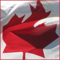 The Maple Leaf part of a Canadian Flag