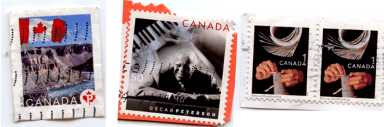 4 Canada Post Stamps