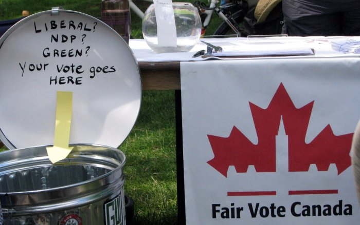 Fair Vote Canada display