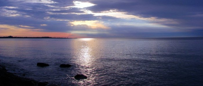 Sunrise over Lake Ontario, one of the 5 Great Lakes, the largest concentration of freshwater in the world