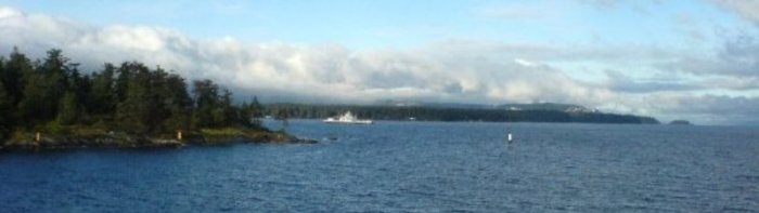 Coming in off the ferry from Vancouver to Nanaimo