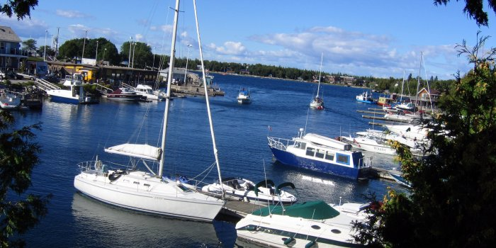 Boats in Tobermory harbour