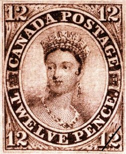 1851 Canadian Queen Victoria Stamp