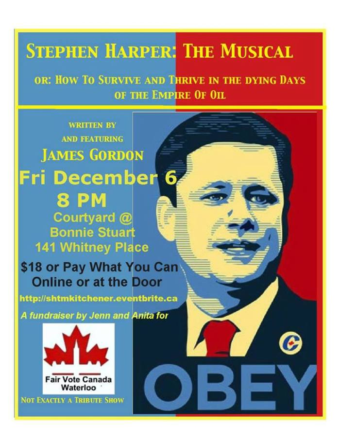 """Stephen Harper: The Musical"" poster"