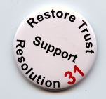 """Support Resolution 31"" Button"