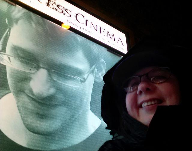 Ed Snowden and Laurel Russwurm