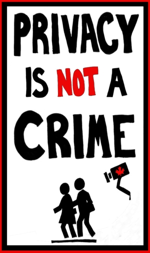 Privacy Is Not A Crime - Protest Sign Remix