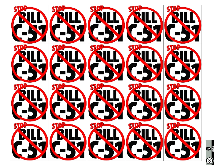 STOP Bill C-51 Sticker Sheetsmall
