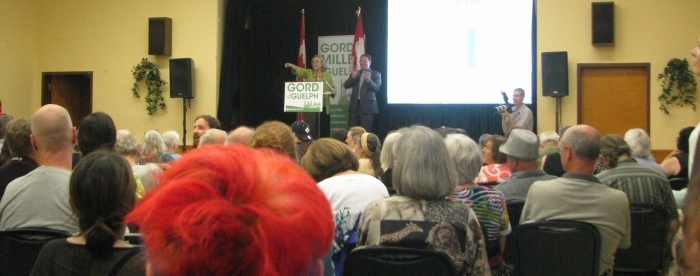 Elizabeth May and Mike Schreiner in Guelph