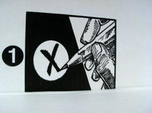X marks the ballot