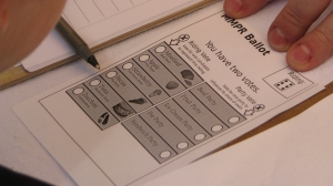 Mixed Member Proportional ballot in mock election