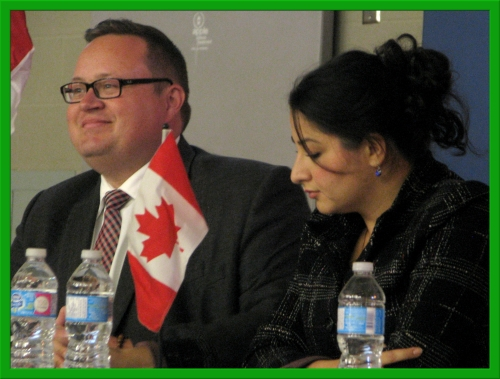 MP Bryan May and the Honourable Maryam Monsef