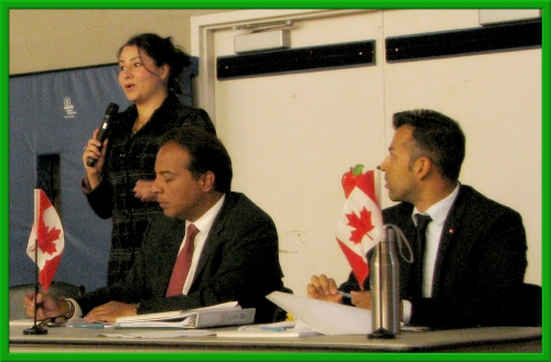 The Honourable Maryam Monsef, MP Raj Saini and MP Marwan Tabarra