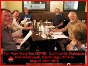 Fair Vote Waterloo Community Dialogue ERRÉ in Cambridge