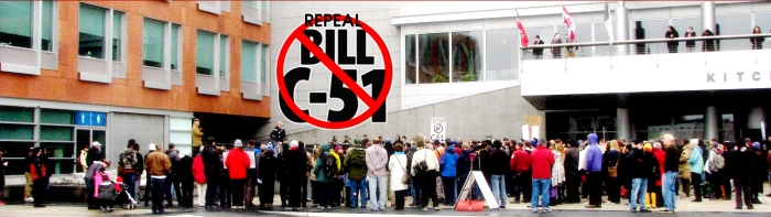 Repeal Bill C-51 banner