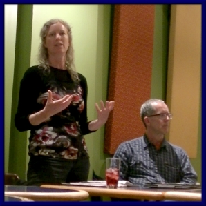 Andrea Kauppinen and John Green of Basic Income Waterloo Region