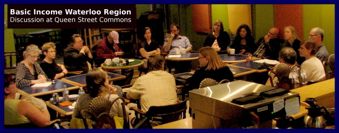 June 2016 Basic Income Waterloo Region discussion at Queen Street Commons, Kitchener