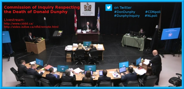 Check the Whoa!Canada calendar for the Don Dunphy Inquiry schedule https://whoacanada.wordpress.com/calendar/