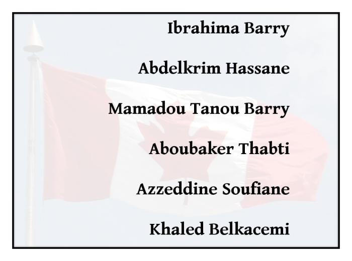 Ibrahima Barry, Abdelkrim Hassane, Mamadou Tanou Barry, Aboubaker Thabti, Azzeddine Soufiane, Khaled Belkacemi