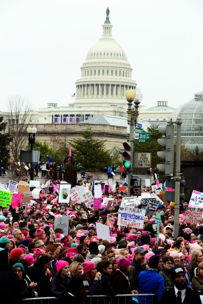 Womens March On Washington ~ Public Domain photo by anonymous National Guard Member