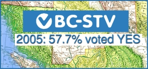 Map: 2005: 57.7% of BC voters voted YES